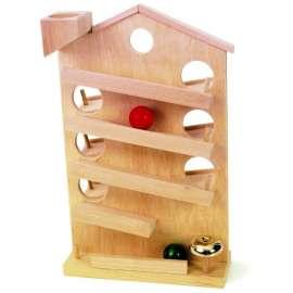 SMALL FOOT - Pista di biglie in legno, 4 piani - 8307