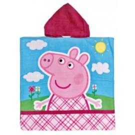 PEPPA PIG -  PONCHO Accappatoio Bambina dai 3 ai 6 anni PEPPA PIG Rosa Originale FIORI