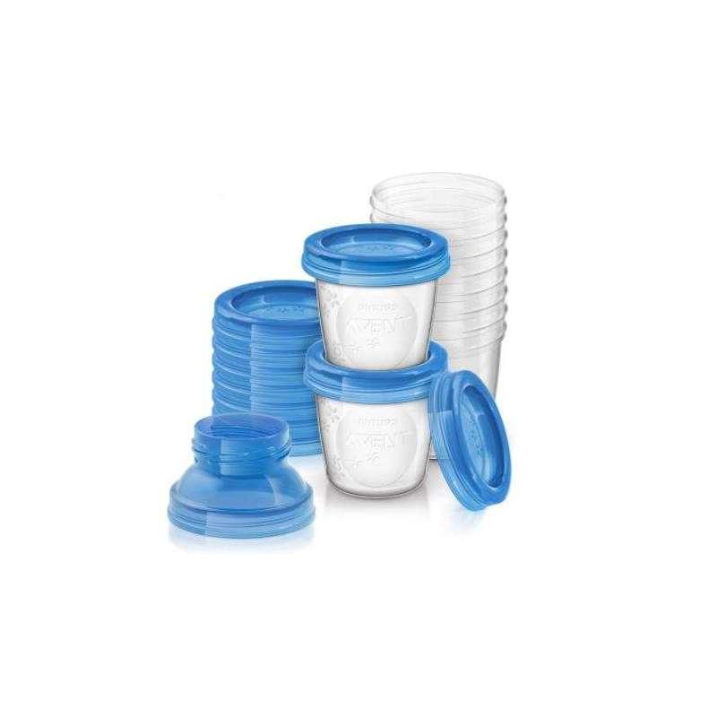 Philips Avent SCF618/10 Contenitori per Latte Materno, Set da 10 Pezzi